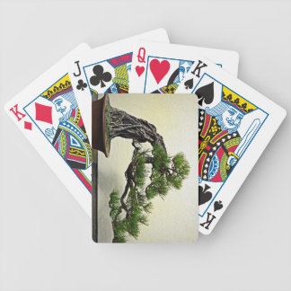 Root Over Rock Pine Bonsai Tree Bicycle Playing Cards