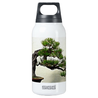 Root Over Rock Pine Bonsai Tree Insulated Water Bottle