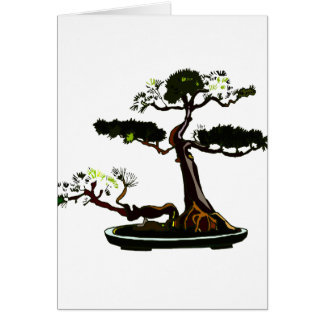 Root Over Rock Upright Pine Bonsai Graphic Image Card