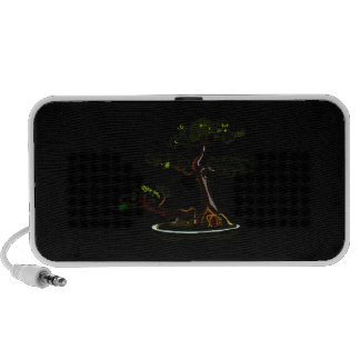 Root Over Rock Upright Pine Bonsai Graphic Image Notebook Speakers