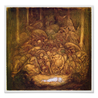 Root trolls By John Bauer Poster