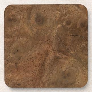 Root wood texture coaster