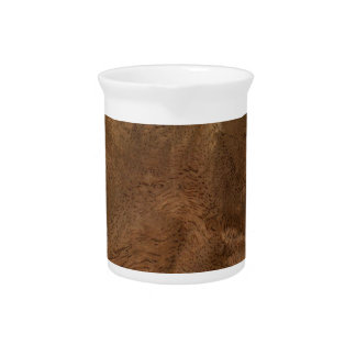 Root wood texture drink pitcher