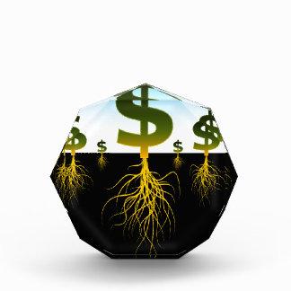 Rooted Dollar Signs Acrylic Award