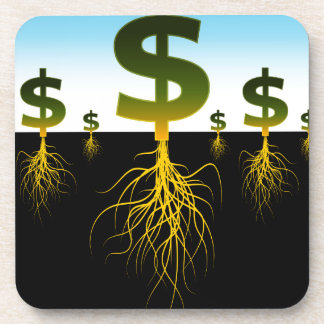 Rooted Dollar Signs Coaster