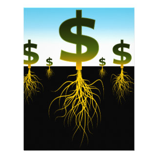 Rooted Dollar Signs Letterhead