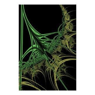 Rooted Fractal Poster