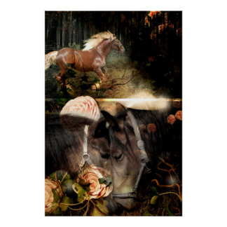 Rooted in God's Love (Horse Art Poster) Poster