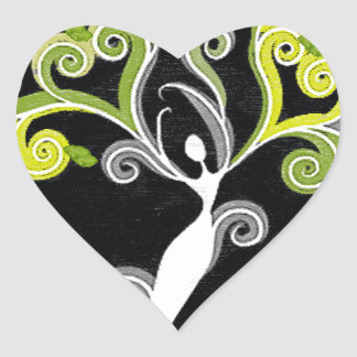 Rooted in His Embrace Heart Sticker
