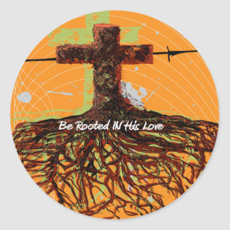Rooted In His Love Classic Round Sticker