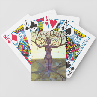 """""""Rooted"""" Tree Goddess Fantasy Art Bicycle Playing Cards"""