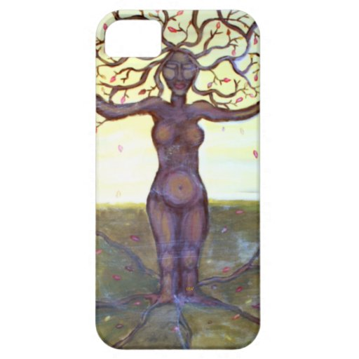 """""""Rooted"""" Tree Goddess Fantasy Art iPhone 5 Cases"""