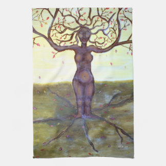 """Rooted"" Tree Goddess Fantasy Art Towel"