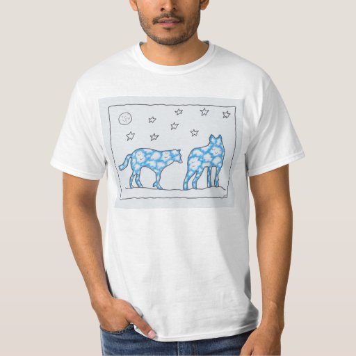 Roothy's Zoo Sky Wolf Unisex T-Shirt: Design 5 T-Shirt