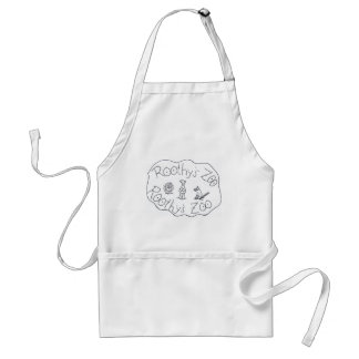 ROOTHY'S ZOO THREE FRIENDS by Ruth I. Rubin Adult Apron