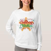 Rootin Tootin cowboy Christmas Holiday t-shirt