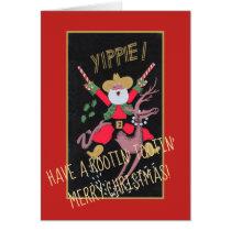 Rootin Tootin Cowboy Santa Card