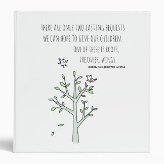 Roots and Wings Inspiring Parenting Quote Binder