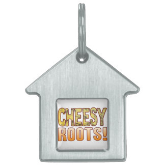 Roots Blue Cheesy Pet ID Tag