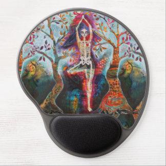 Roots, Dia de Los Muertos Tree Yoga Pose Gel Mouse Pad