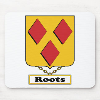Roots Family Crest Mouse Pad