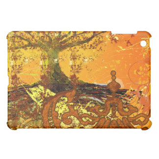 Roots Grunge Damask iPad Cover