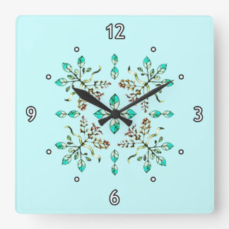 Roots & Leaves Square Wallclock