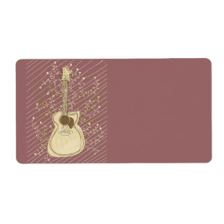 Roots Music Custom Shipping Label