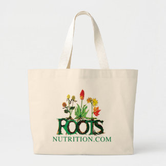"Roots Nutrition ""Dot Com"" Clothing Large Tote Bag"