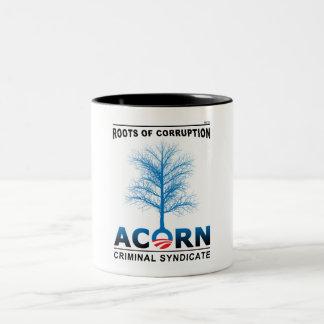 Roots of Corruption Two-Tone Coffee Mug