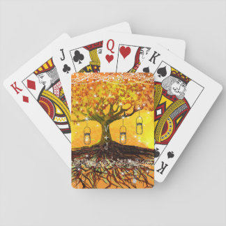 Roots of Love Romantic Rustic Tree Wedding Deck Of Cards