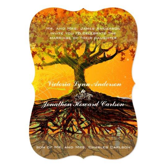 Roots of Love Romantic Tree Wedding Invitation