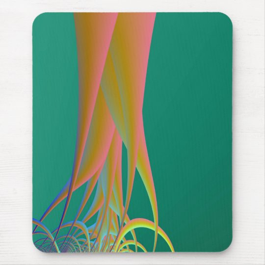 Roots on Green Mouse Pad