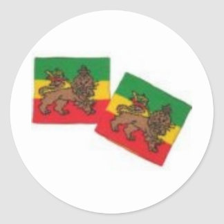 ROOTS RASTA COLLECTION CLASSIC ROUND STICKER