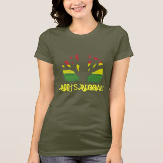 Roots Reggae Ladies Brown T shirt