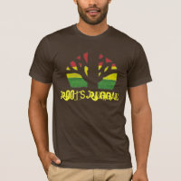 Roots Reggae Men's Brown T shirt
