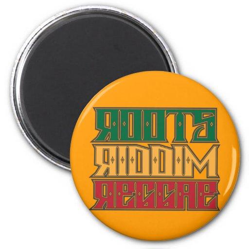 Roots Riddim Reggae 2 Inch Round Magnet