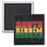 Roots Riddim Reggae 2 Inch Square Magnet