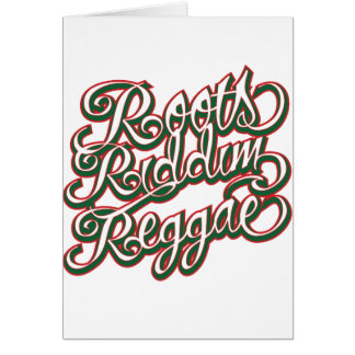 Roots Riddim Reggae Card