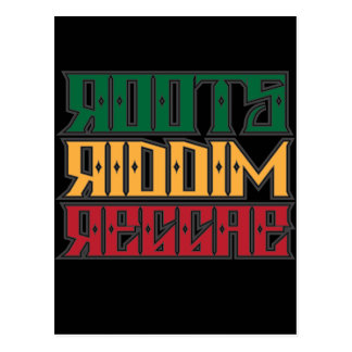 Roots Riddim Reggae Postcard