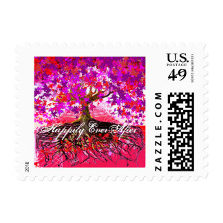 Roots Tree of Love Wedding Postage