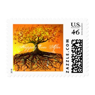 Roots Tree of Love Wedding Supplies stamp
