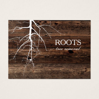 Roots tree wood board background Business Card