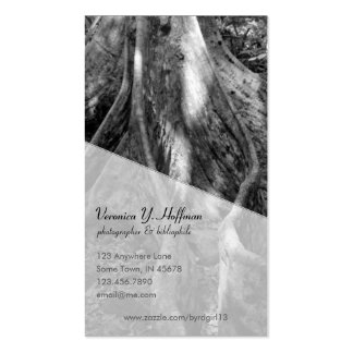 Roots with script font business card
