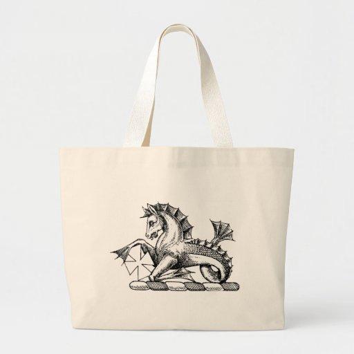 Ropa 15 del dragón bolsa lienzo