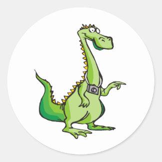 Ropa 22 del dragón etiqueta redonda