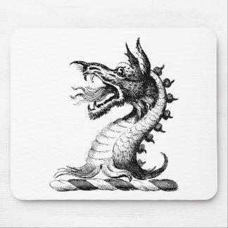Ropa 42 del dragón tapetes de ratón