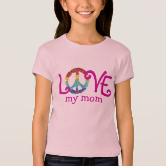 Ropa a juego de la mamá y de la hija - paz y amor playera