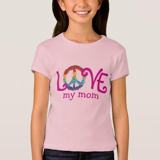 Ropa a juego de la mamá y de la hija - paz y amor polera