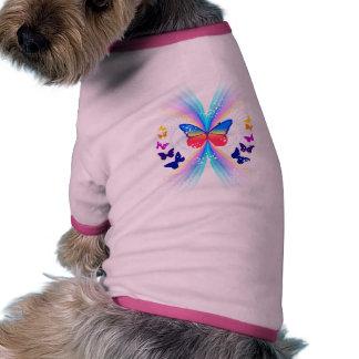 ropa abstracta del mascota del modelo de mariposa camisas de perritos